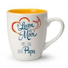 Mok 't leven is mooi met jou lieve papa