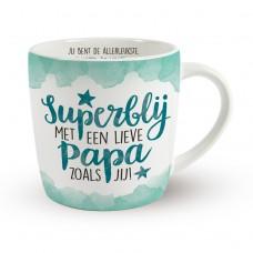 Enjoy mok, superblij met een lieve papa zoals jij!