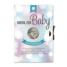 Geluksmunt Giftcard hoera, een Baby