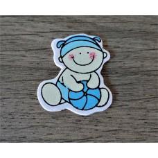 Baby met bal blauw