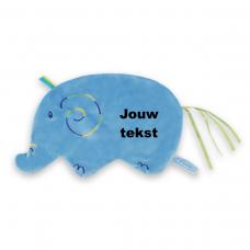 Labeldoekje olifant met persoonlijke bedrukking