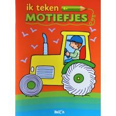 Kleurboek motiefjes traktor