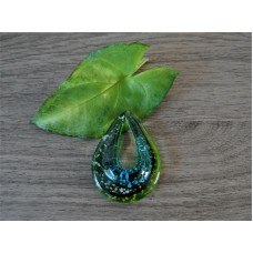 Glazen hanger Groen met ketting