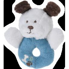 Rammelaar hondje blauw, wit