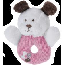 Rammelaar hondje roze, wit