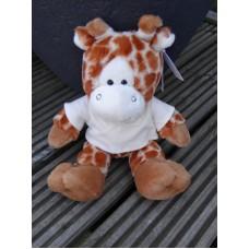 Giraf Gino inclusief truitje en bedrukking naar keuze