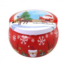 Kerstblikje gevuld met 30 gram Christmas Spirit thee