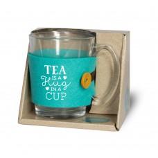 Theeglas, tea is a hug in a cup