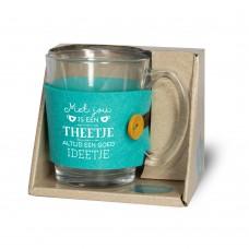Theeglas, met jou is een theetje altijd een goed ideetje