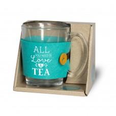 Theeglas, all jou need is love & tea