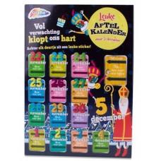 Sinterklaas aftelkalender met stickers
